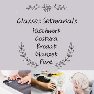 Classes de Patchwork, costura, mitja, ganxet i brodat a Camprodon (Girona)